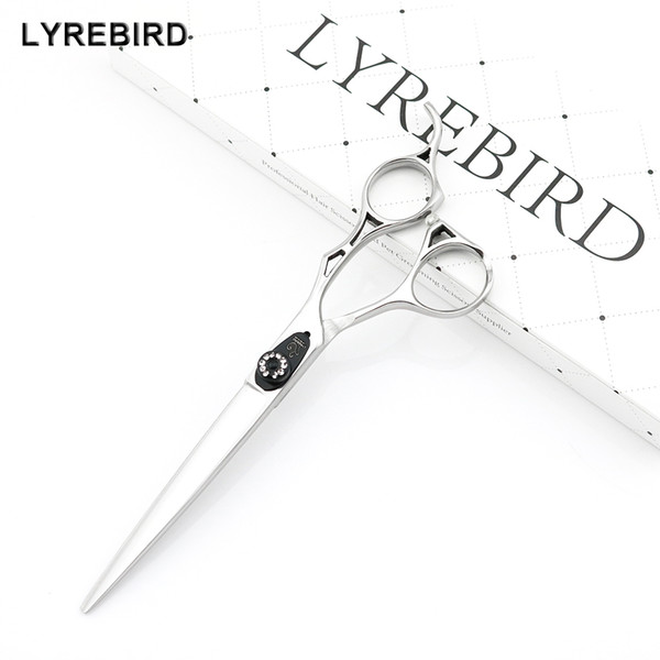 Lyrebird HIGH CLASS Professional hair cutting scissors 7 INCH Silvery dog hair shears Pet hair cutting scissors NEW
