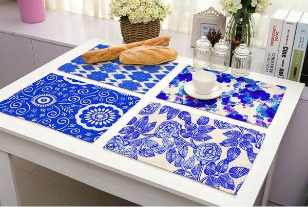 2019 Blue And White Porcelain Placemat Insulation Non Slip Dining Table Mat  Bowl Tableware Pad Coaster Kitchen Accessories From Timelesszeng, $2.39 |  ...