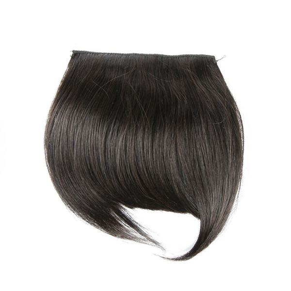 top popular Virgin Human Hair Fringe Natural Color Silky Straight Human Hair Extensions One Piece DHL Shipping XBLHair 2019