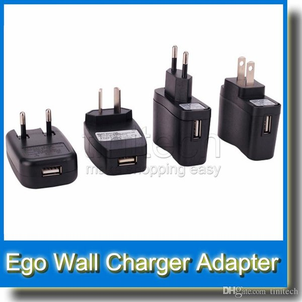 USB Wall Charger Adapter USB Charger OR Wall Charger for Electronic Cigarette eGo Wall plug USB Charger fit for Ego t ego vv ego k battery