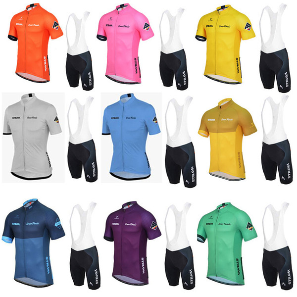 best selling Wholesale-8 colors strava cycling jersey breathable quick-drying shirt pocket strava jersey size can be customized good quality