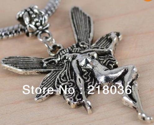 Vintage Silver 50pcs Angel Dangle Beads Charms Pendants For Bracelet Necklace Fashion Jewelry Making DIY Accessories Valentine's Gift M1112