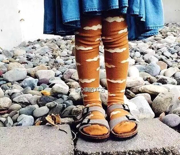 2016 INS Baby Gilrs 100% cotton leggings cartoon pantyhose thick warm stockings Kids winter Cute bobo tights free ups fedex ship 1-5T