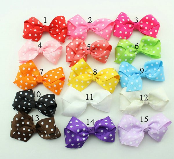 Hot Selling 50pcs/lot 3 inch Sweet Girls' Hair Accessories hair bows hairs clip grosgrain ribbon Bows HD3298
