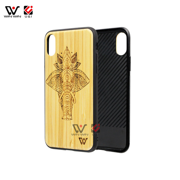 Wholesale Cell Wooden TPU Phone Case For iPhone 8 Factory Price TPU Stylish Cover Accessories for iPhone X