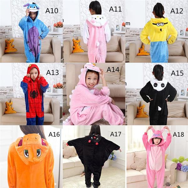 Moda Çocuklar Gecelik Kız Giyim Erkek Pijama Bebek Takım Elbise Eğlence Giyim Sevimli Karikatür Hayvan Desen çocuk Tulumlar