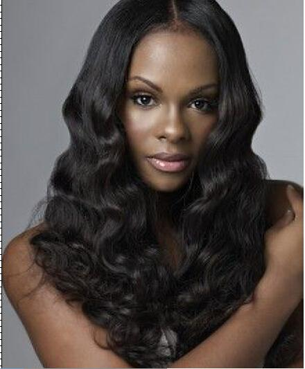 top popular Brazilian Full Lace Wigs Human Hair Wigs Middle Part Body Wave Hair Wigs for BLack Women Natural Color Bellahair 2019