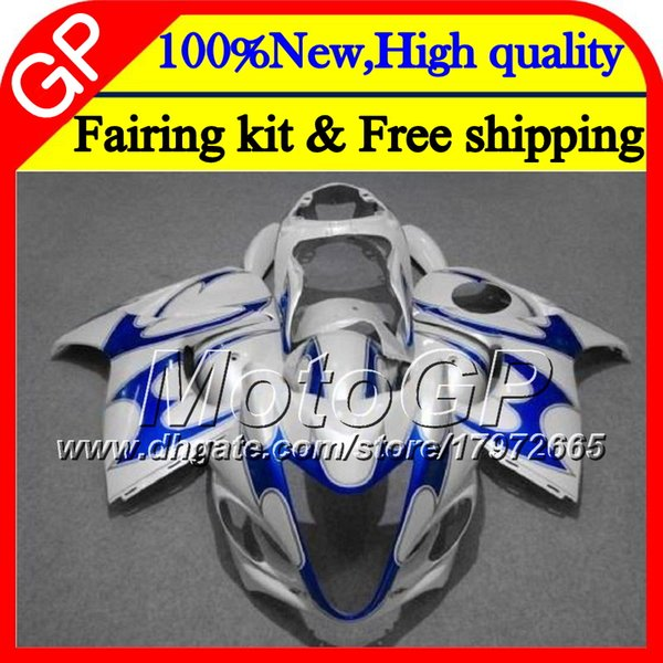 Cuerpo para SUZUKI Pearl White Hayabusa GSXR1300 08 09 10 11 42GP43 GSX R1300 2008 2009 2010 2011 GSXR 1300 12 13 14 15 Carenado de motocicletas