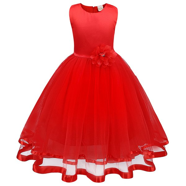 Baby Flower Girl Dress Kids Party Children's Clothing Teenage Girls Wedding Dresses Tulle Prom Formal Party Dress