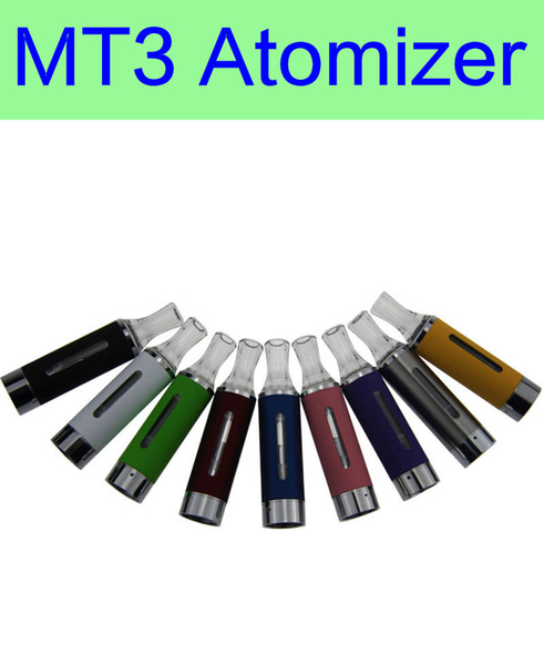 10 pcs/Lot MT3 Atomizer E cigarette rebuildable bottom coil Clearomizer tank for EGO battery Multi-color Atomizer Free shipping
