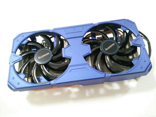New Original for Leadtek GTX560TI graphics radiator two heat pipe copper bottom double fan wirh heat sink pitch 51*61MM