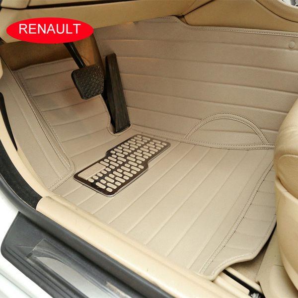 Car floor mats For Renault Megane Scenic Fluence Koleos Laguna Talisman Latitude Car carpet 3D leather Car carpets Customized car foot mats