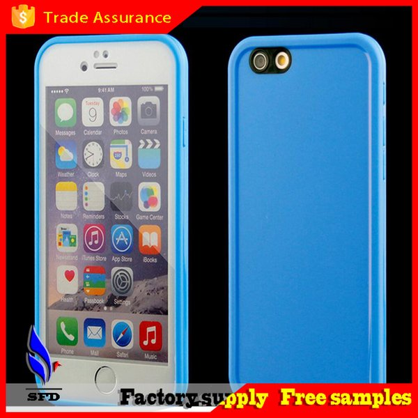 TPU with clear front screen protector Water Resistant Soft waterproof case Gel Case For iPhone 6 6s iphone 6 plus s