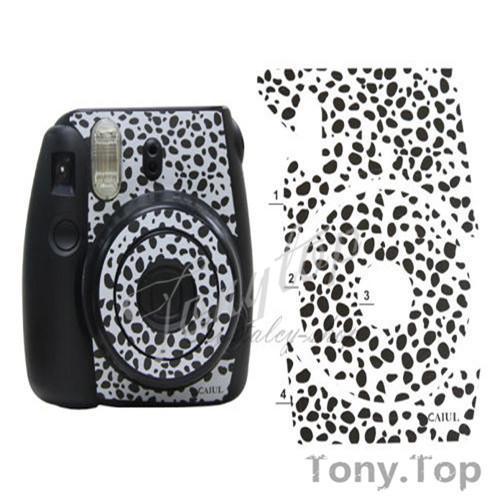 Оптовая продажа-белый с черными горшками цвет мгновенный мини 8 украшения стикер Instax для Fuji Polaroid