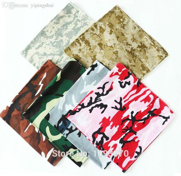 Bandanas en gros-hip-hop pour hommes femmes Unisexe foulard tête armée camouflage couleur foulards foulard Coton 100% livraison gratuite --- SKTJ023