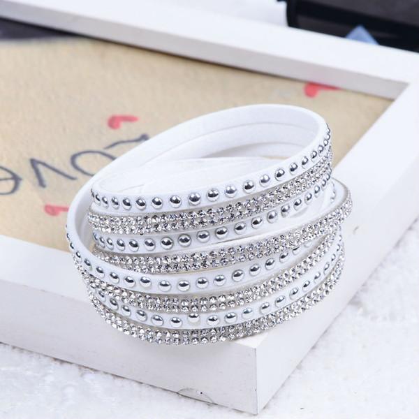 Nuovo braccialetto unisex in pelle multistrato con braccialetti di fascino regalo di Natale per le donne Pulsera 2015