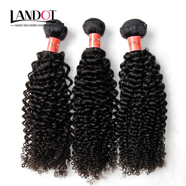 Brasilianisches lockiges menschliches Haar spinnt 3 Bündel unverarbeitete 8A peruanische malaysische indische kambodschanische mongolische Jerry verworrene Locken-Haar-Erweiterungen