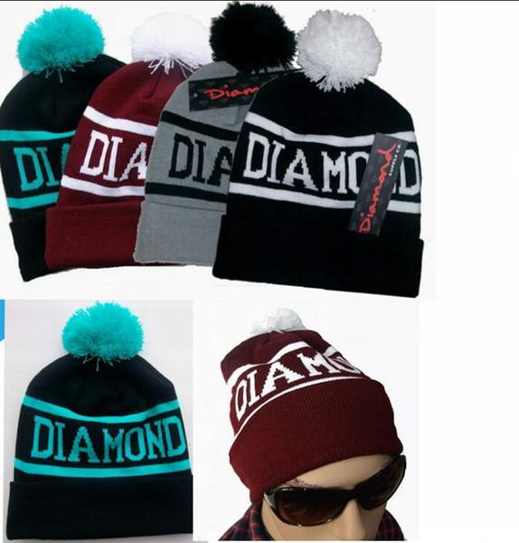 30pcs nuovo Diamond Supply Co Beanie cappello invernale vogue uomo donna beanie cappello berretto invernale lavorato a maglia femalemale berretti cappello hiphop BFH454