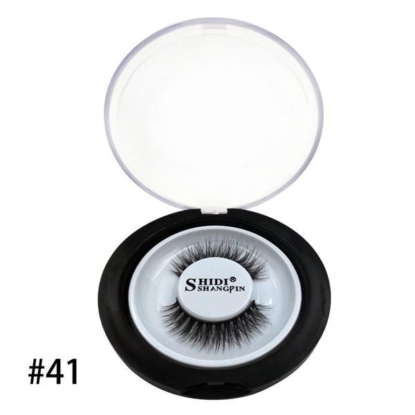 1pairs/set Mink False EyeLashes Natural Thick 3D Long Extension Plastic Cotton Stalk Handmade Full Strip Makeup Fake Eye Lashes Tools