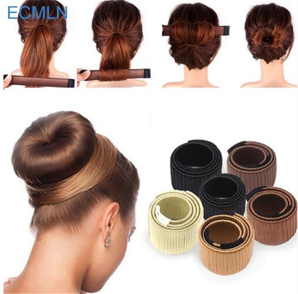 Hair Accessories Synthetic Wig Donuts Bud Head Band Ball French Twist Magic DIY Tool Bun Maker Sweet French Dish Made Hair Band TO306