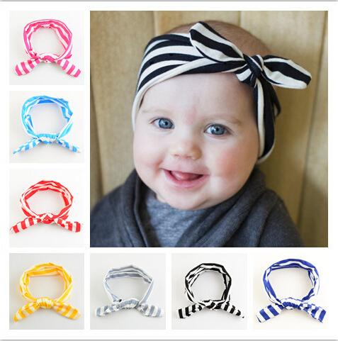 Children elastic Striped hair band Candy color hairbands Baby hair Accessories 2015 New Fashion Hair Sticks 11 color