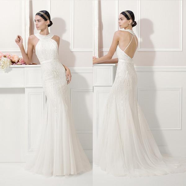 wedding dresses mermaid trumpet style halter