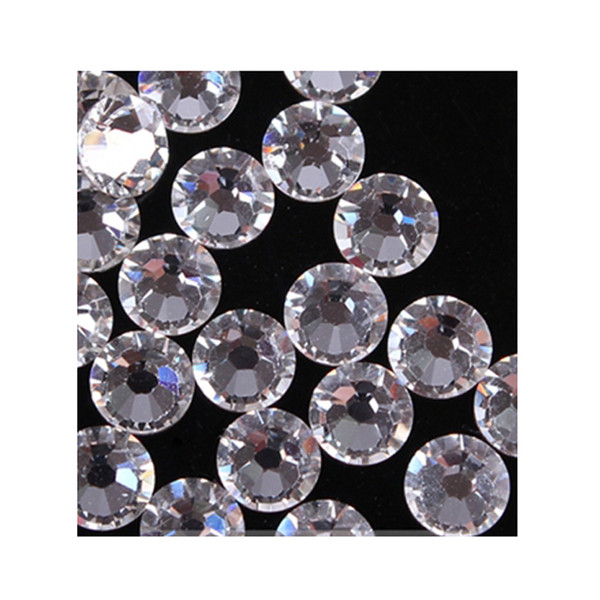 Wholesale-120 pcs Flatback ss20 DMC Clear Hot Fix Rhinestones Shiny Crystals Strass Trims For Clothing Boots Bags Heat Transfer Hotfix