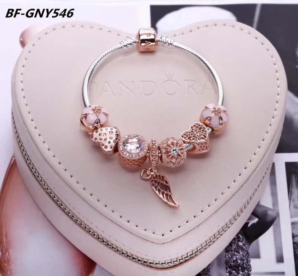pandora charm bracelet rose gold