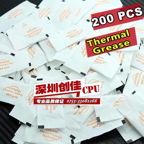 Großhandels-FREIES VERSCHIFFEN Weiß Minikieselgel kleine Tasche Silikon Wärmeleitpaste CPU GPU VGA Paste Kühlkörper Verbindung 200pcs / lot