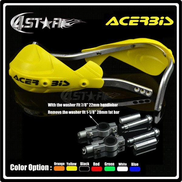 2019 ACERBIS Yellow Handguard Hand Guard Fit Motorcycle Motocross Dirt Pit  Bike RM125 RM250 RMZ250 RMZ450 RMX250 RMX450 DRZ400 DR250 From