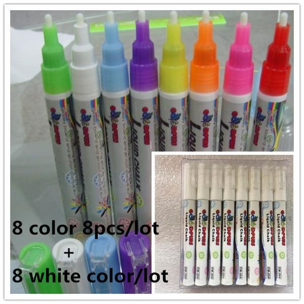 Marke Goodplus 3 MM 16 Teile / satz Textmarker Fluoreszierende Flüssige Kreide Filzstift Für Led Writing Fluorescent Board Stift