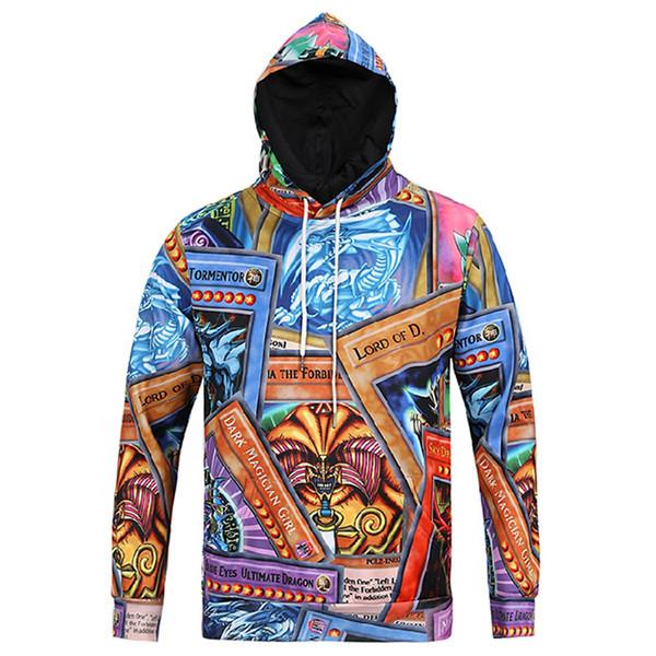 Yeni Varış Sonbahar Kış Kap Kazaklar Ile erkekler Hoodies Tops Casual Hoody Ejderha Baskı 3d Tişörtü