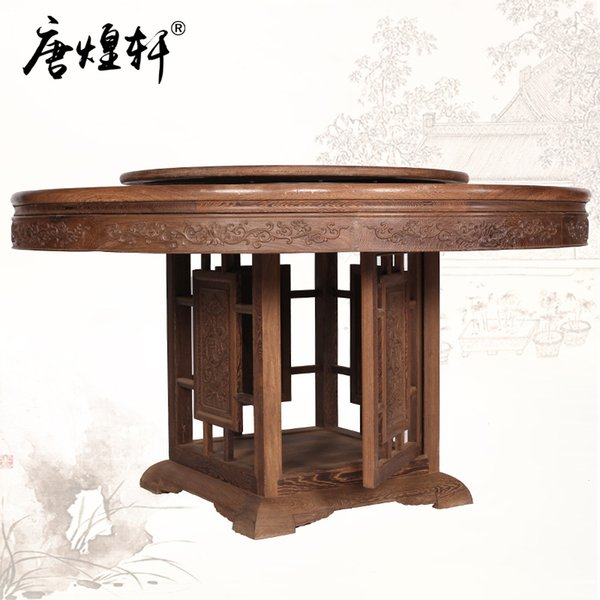 2019 Antique Mahogany Furniture Wenge Wood Table Round Table Turntable Roundtable With Chinese Classical Furniture Solid Wood From Xwt5242 7416 77