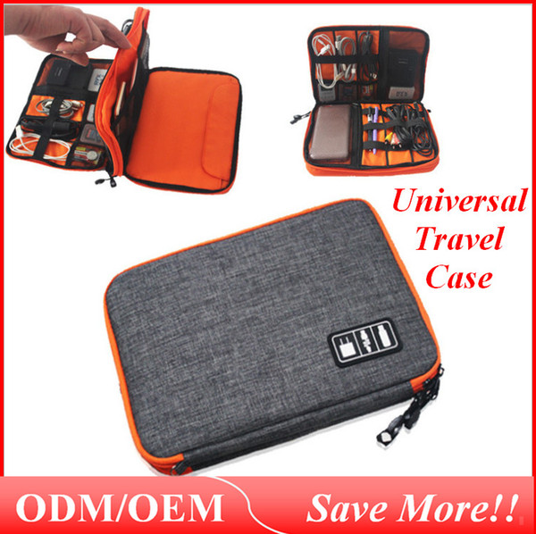 Universal Travel Case Small Electronics Accessories Stuff Sacks Outdoor Storage Hand Bag for Power Bank Cell-phone Bag012