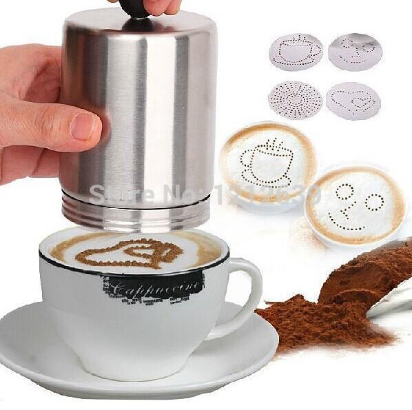 Paslanmaz Kakao Duster Motta Cappuccino Kahve Dekorasyon hakkında detaylar Latte Art Barista Aracı