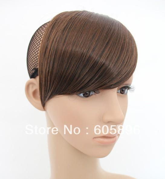 top popular Ladies' synthetic hair fringe bangs clips on hair pieces three colors ,drop shipping 2019