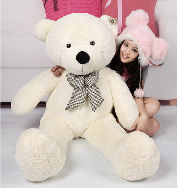 """Wholesale cheap4 Colors Dark Brown/Light Brown/pink/white New Cartoon Bear Toy Sleepy Large Size Plush Soft Stuffed Giant 3 Size 31"""" 39"""" 47"""""""