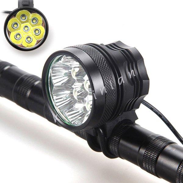 9000Lm 7x CREE XML T6 LED Vélo Lumière Phare Vélo Vélo Tête Lumière Lampe + Batterie + Bandeau