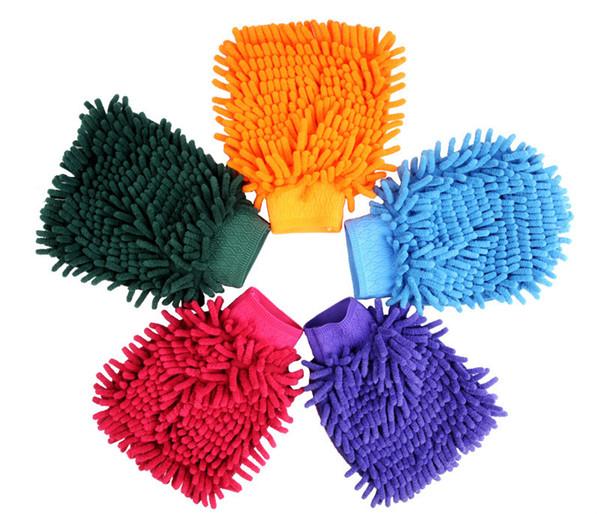 Vente chaude Main De Nettoyage Doux Serviette En Microfibre Chenille Gants De Lavage Coral Polaire Anthozoaire De Voiture Éponge De Lavage Tissu Entretien De La Voiture Nettoyage