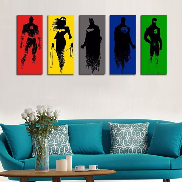 2018 The Justice League Oil Painting On Canvas 100% Handmade Wall ...