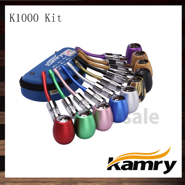 Kamry K1000 Epipe k1000 Vape Mod Kit con Kamry Dual Coils Glass Atomizer Tank 100% Original