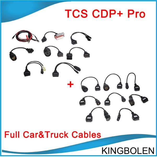 New Arrival full set cdp+ 8 car cables and cdp plus 8 truck cables cdp + cables delphi DHL Free Shipping