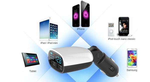 Le meilleur chargeur de voiture de port d'USB LED universel 12 V / 24V / olt / 1 ~ 2.4 ampères pour l'iPhone d'Apple iPad iPod / Samsung Galaxy / Motorola Droid Nokia Htc