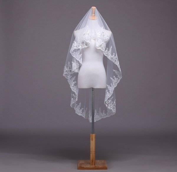 Shanghai Story Wholesale new style sequin lace veil wedding accessories Korean yarn factory direct lowest price bridal vail