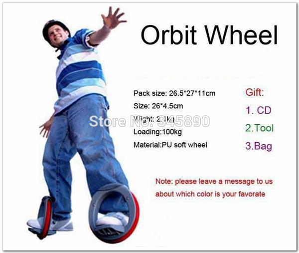 Venta al por mayor-2015 Nueva venta total Orbitwheels ruedas monopatín Sport Skate Boar órbita rueda de iluminación rodillo de la PU rueda suave Whirlwind ronda