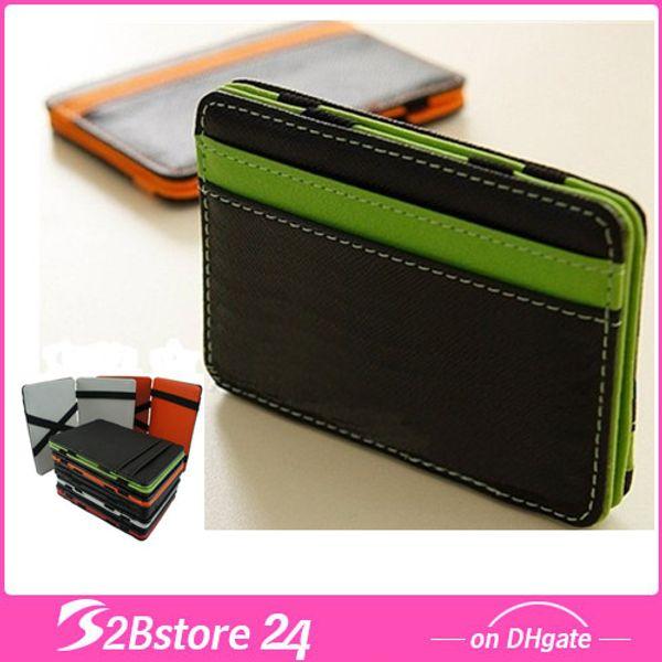 Großhandel Magic Clip Wallet Change Geldbörse Lustige Design Burse Geldbörse Pu Leder Visitenkartenhalter Fashion Design Brieftasche Von B2bstore24