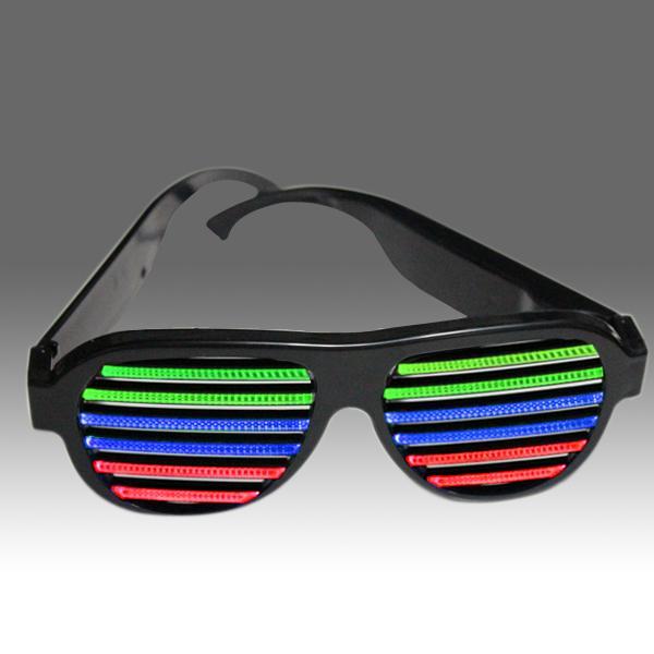Оптовая торговля-2015 новейшая рамка светодиодная звуковая активация новизны солнцезащитные очки светятся в темных солнцезащитных очках для новизны продуктов для импорта