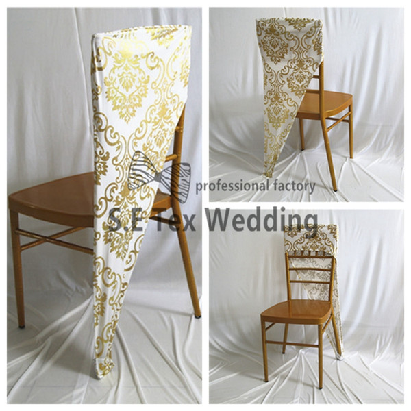 Enjoyable New Design Bronzing Coated Lycra Spandex Chiavari Chair Cap Hood Chair Cover For Eevent And Wedding Decoration Cheap Chair Covers For Rent Loose Machost Co Dining Chair Design Ideas Machostcouk