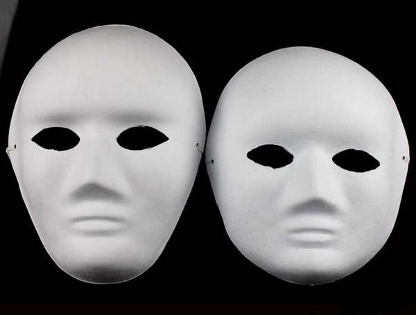 Неокрашенные утолщаются мужчина женщины пустые маски для украшения окружающей среды целлюлозы анфас DIY Изобразительное искусство живопись маски 10 шт. / лот