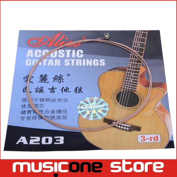 top popular Alice A203 Balladry Guitar 3rd String Wood Guitar String Alice Guitar Strings of Ballads MU0239-3 2019